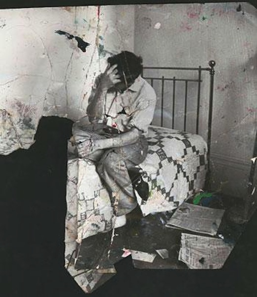 Photo of Lucian Freud used as inspiration for John's current body of work