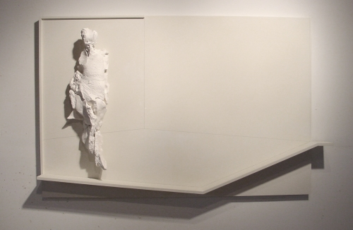 "Lady Classical in Her Drawing Room, 32""H, Plaster, Wood, Graphite, 2010"