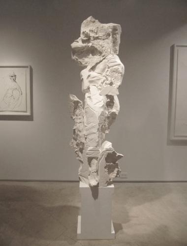 "Advancing Woman, 92""H, Plaster, 2009"