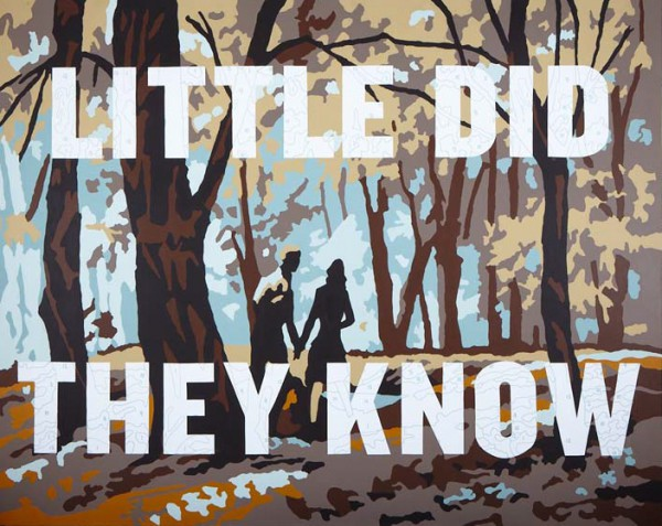 """Trey Speegle """"Little Did They Know"""", archival pigment, acrylic on canvas, 48 x 60"""", 2009"""