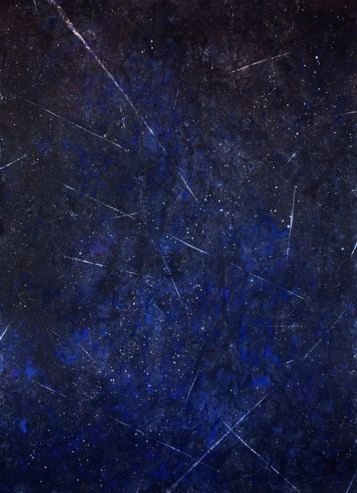 "Ekaterina Smirnova ""Meteor Shower"" Watercolor 70x52"""