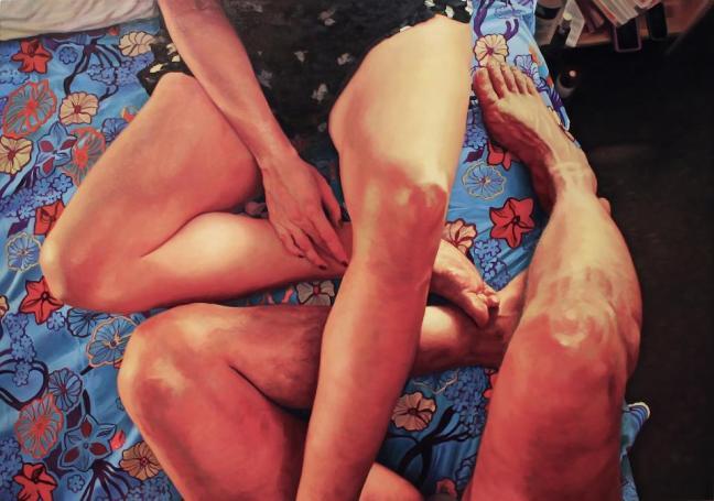 Secret Garden, 2013, oil on canvas, 48 x 70 inches