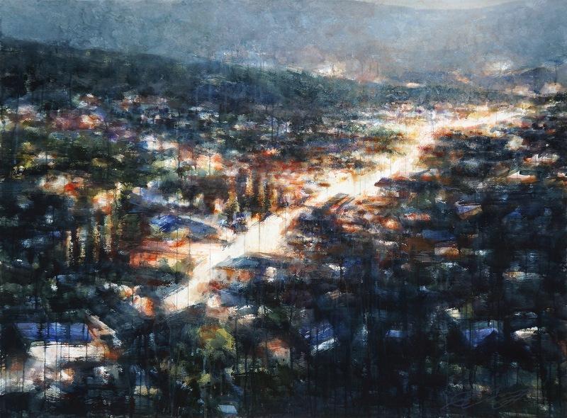 "Ekaterina Smirnova ""Twilight"" Watercolor 70x52"""