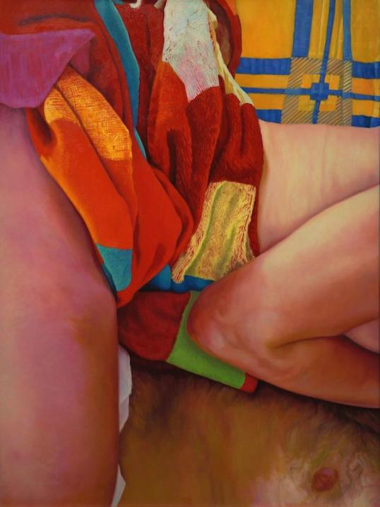 Warm, 2013, oil on canvas, 48 x 36 inches