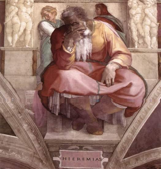 Michelangelo – Jeremiah, Sistine Chapel Ceiling