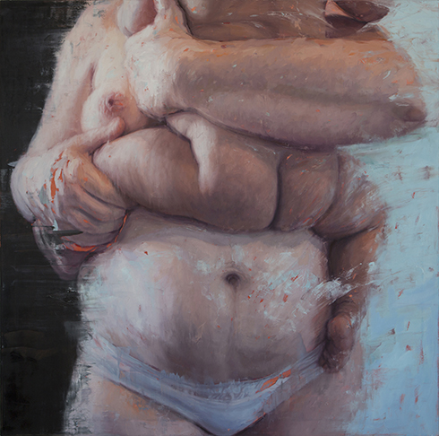 Mother and Child (KA2) 2014, Oil on canvas 60 x 60 in / 152.4 x 152.4 cm