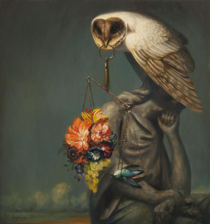 Media, 32%22 x 31%22, Oil on canvas, 2012