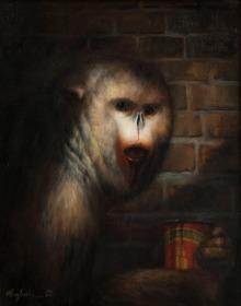 The Addict, 20%22 x 16%22, Oil on linen, 2012