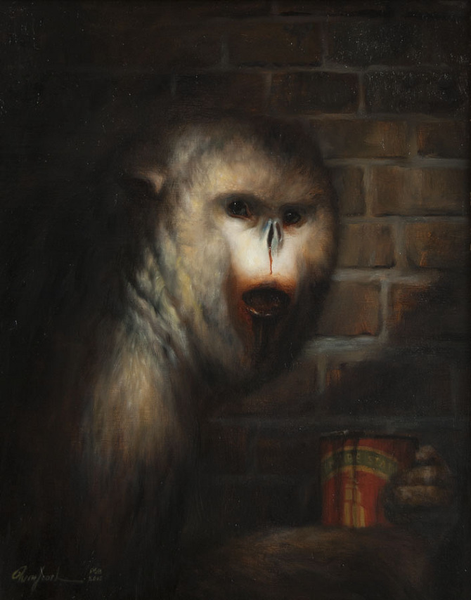 The Addict, 20%22 x 16%22, Oil on linen, 2012