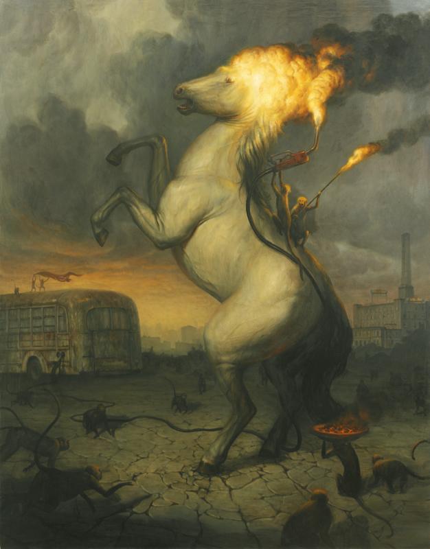 The Sacrifice, 64%22 x 50%22, Oil on canvas, 2011
